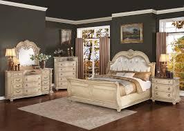 White King Headboard Ebay by Homelegance Palace Ii Upholstered Bedroom Set Antique White