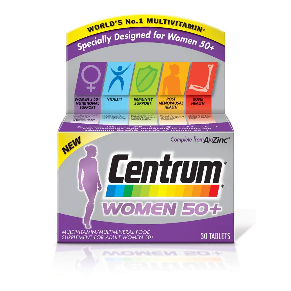 Centrum Women 50+ Multivitamin - 30 Tablets