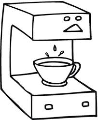 Coffee Machine Coloring Page