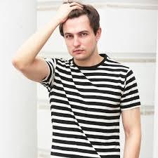 brown boy brown boy 100 organic cotton stripe crew neck t shirt