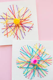 These Easy Handmade Cards Are Fun For Kids To Thread Through And Great Practicing Fine Motor Skills Or A Good Beginner Exercise In Stitching