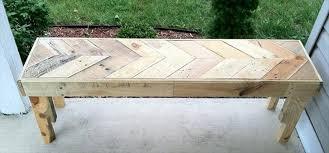 Wooden Pallet Bench Plans