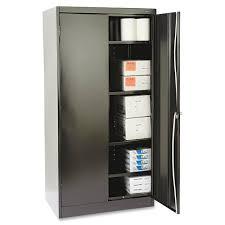 Tennsco Steel Storage Cabinets by Tennsco 1480bk Standard Black Storage Cabinet 36