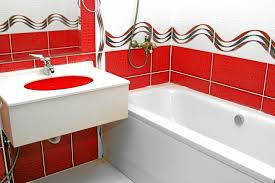 Modern Chandelier Over Bathtub by Awesome Bright Red Vintage Vanity Painted With White Chandelier
