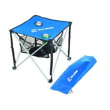 100 Folding Chair With Carrying Case Clam UltraLight Ice Fishing Table Blue With Black Trim9180