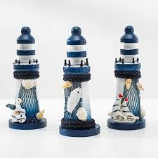 vosarea 4 stücke holz mini leuchtturm deko maritime