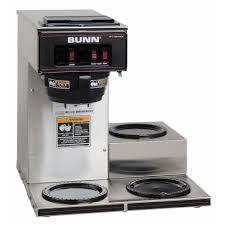 Bunn VP17 3 Pourover Coffee Maker W Lower Warmers 120v 133000003