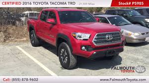 Certified 2016 Toyota Tacoma TRD Off-Road For Sale | Falmouth Toyota ... Car Inventory Largest Used Cape Cod Slush Ice Cream Co Sandwich Ma Food Trucks Roaming Paint Body Work Truck Martys Buick Gmc In Kingston Carver Duxbury And Source Custom Signs Lettering Logo Design Vaughan Art Acura Canada Prices Mdx Sport Hybrid Crossover Autotraderca 2016 Mjt Show Part One Youtube Hot Rods Magazinecape Magazine The 4th Annual Festival Scout Cambridge Garbage Truck Vs Pickup Harwich Flatbed Flatbed Hyannis