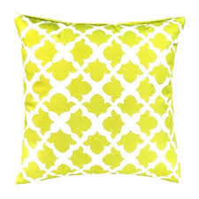 Pillows Pads Lime Arabesque Collection Outdoor Cushions Waterproof Garden