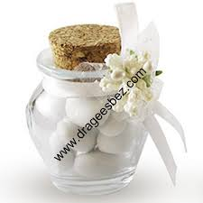 petit pot pour dragees lot de 60 petit pot en verre jarre à dragées pour mariage