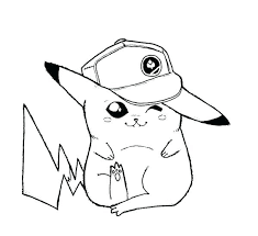 Ash And Pikachu Coloring Pages Sheet Picture Of Adorable Page Baseball Player Pikach