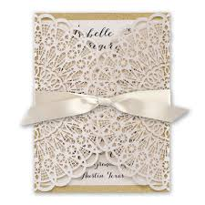 Rustic Wedding Invitations Glam Laser Cut And Real Glitter Invitation