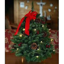 32 28 Socket Pre Wired Christmas Tree Artificial Trees Fresh Cut Classic Lit Inch Tabletop