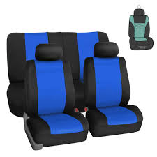 100 Neoprene Truck Seat Covers Full Set For Auto Car SUV Coupe Blue W Gift