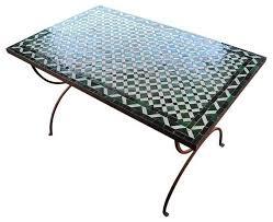 mosaic tile patio table knf designs rectangular mosaic