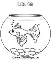 Fish Bowl Coloring Pages