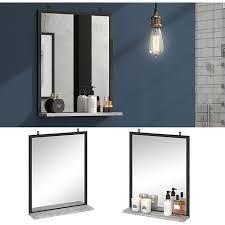 vicco badspiegel fyrk beton badezimmerspiegel mit ablage wandspiegel für bad