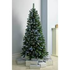 6ft Alaskan Flocked Christmas Tree by Pre Lit Slim Frosted Christmas Tree With 200 White Led Lights 6