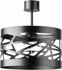 details zu deckenleuchte schwarz offener zylinder schirm metall le wohnzimmer modern