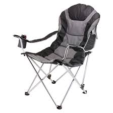 Kelsyus Go With Me Chair Uk by Picnic Time Reclining Camp Chair Black Gray 12 5 Lb Camp