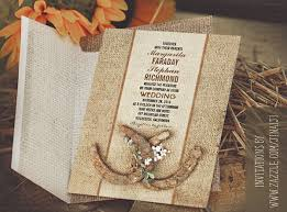 Horseshoes Rustic Wedding Invitations