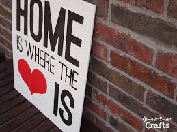 Home Is Where The Heart Gingersnapcrafts