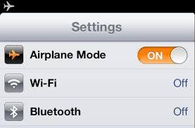iOS Airplane mode