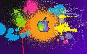 Beautiful Apple Paint Logo Wallpaper High Definition