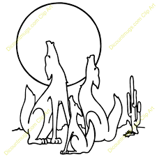 Coyote Howling Clip Art Coyotefamily Coyotes