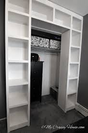 these shelves would be cool around a closet door to extend the