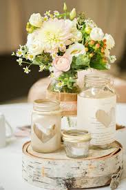 Rustic Wedding Centerpieces Mason Jars Table With