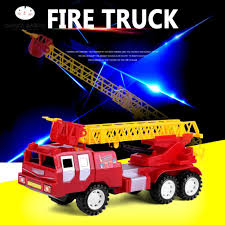 100 Fire Trucks Toys SBY 12Pcs Truck Engine Toy Water Tender Rescue Ladder Truck With Light Sound
