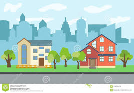 100 Three Story Houses Vector City With Twostory And Story Cartoon And Green