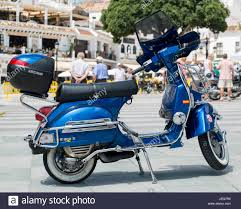 Vespa PX 200E Classic Motorcycle Meeting Villa De Mijas 2017 Malaga Spain
