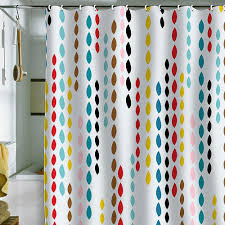 5 colorful modern shower curtains from DeNY Designs Retro Renovation