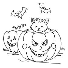 Halloween Day Hanukkah Menorah Coloring Page
