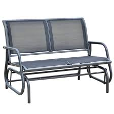 Outsunny 48 In. Black Steel Outdoor Glider Bench Intertional Caravan Valencia Resin Wicker Steel Frame Double Glider Chair Details About 2seat Sling Tan Bench Swing Outdoor Patio Porch Rocker Loveseat Jackson Gliders Settees The Amish Craftsmen Guild Ii Oakland Living Lakeville Cast Alinum With Cushion Fniture Cool For Your Ideas Patio Crosley Metal And Home Winston Or Giantex Textilene And Stable For Backyardbeside Poollawn Lounge Garden Rocking Luxcraft Poly 4 Classic High Back