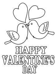 Valentines Day Coloring Card 3
