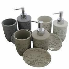 3pc keramik badezimmer set 3 farben beige grau weiß spender