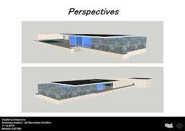 100 Barcelona Pavilion Elevation SketchUp Vladlenatdesign