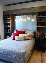 Rustic Wood Cabients And Hanging Edison Bulbs Would Add This Awesome Industrial Touch To Bedrooms Decor