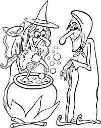 Free Printable Halloween Witches Coloring Page For Kids