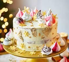 White Chocolate Orange Cranberry Christmas Cake