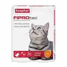 flea treatment for cats beaphar fiprotec for cats spot on flea treatment 3 x 50mg pets