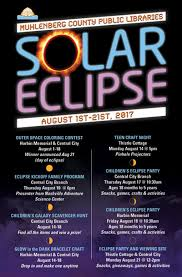 Solar Eclipse Event Poster Design Muhlenberg County Public Library