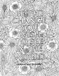 Coloring Inspirational Words Website Picture Gallery Pages For Adults