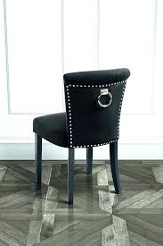 Contemporary Dining Room Chairs Unique Chair With Back Ring Black Velvet