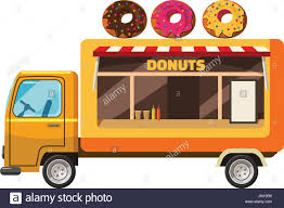 Donut Truck Mobile Snack Icon, Cartoon Style Stock Photo, Royalty ...
