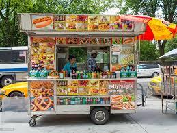 Street Fast Food Van Truck Manhattan New York City New York State ...
