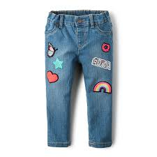toddler girls patch skinny jeans rain wash the children u0027s place
